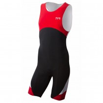TYR Mens Carbon Zipper Back Short John With Pad